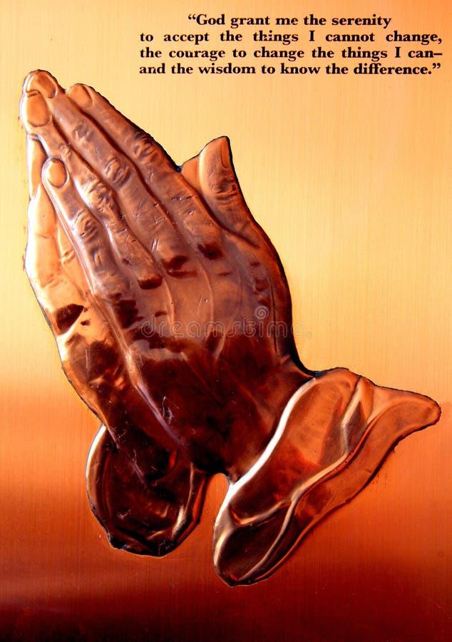 Afrikaanse messingsplaque van gebed royalty-vrije stock foto