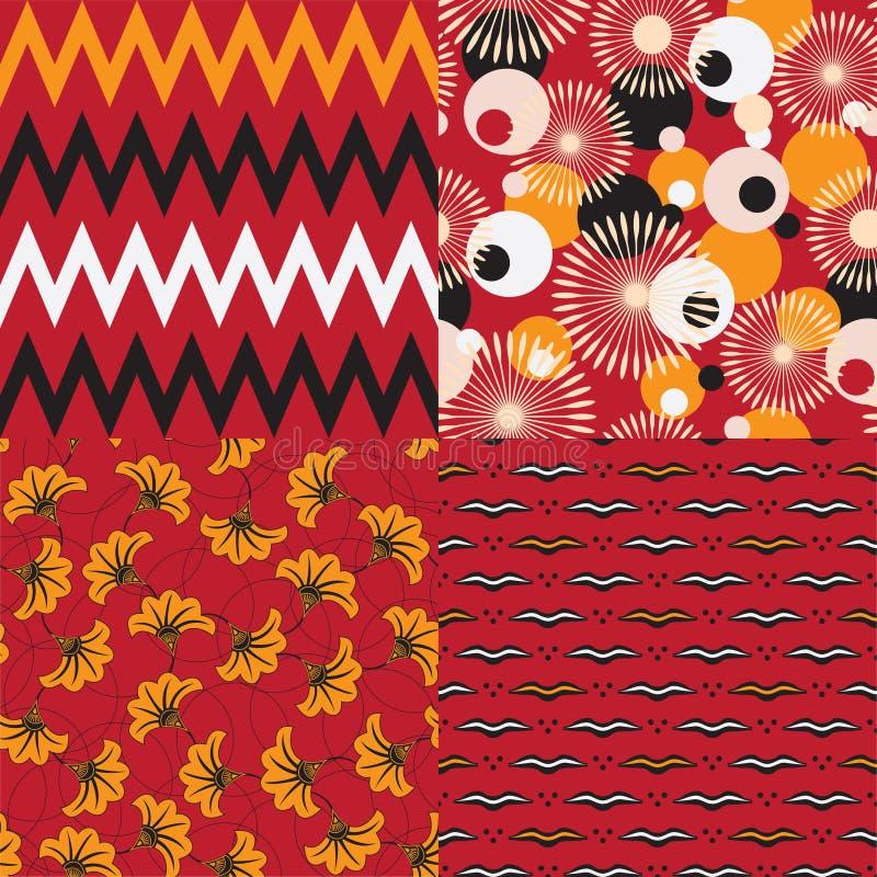 Afrikaanse motieven vector illustratie
