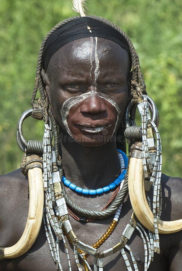 Afrikaanse Mursi Mensen 7 royalty-vrije stock fotografie