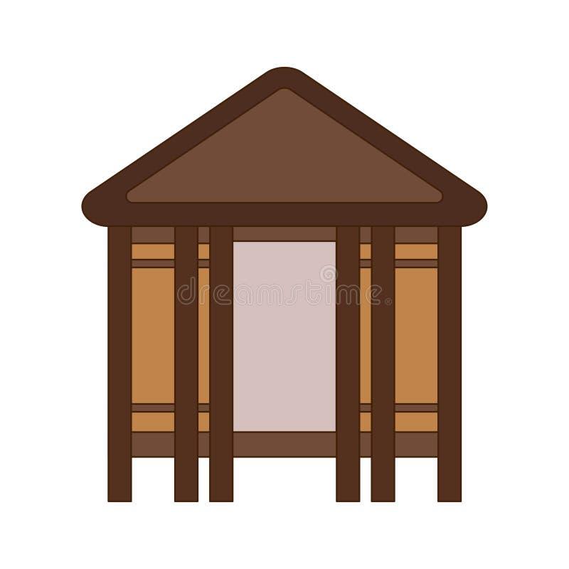 Afrikaanse nationale huizen en woningen Hutten in een Afrikaans dorp Vlakke lijnstijl Vector illustratie vector illustratie