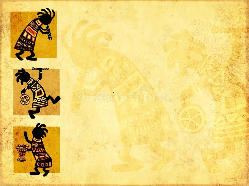 Afrikaanse nationale patronen stock illustratie