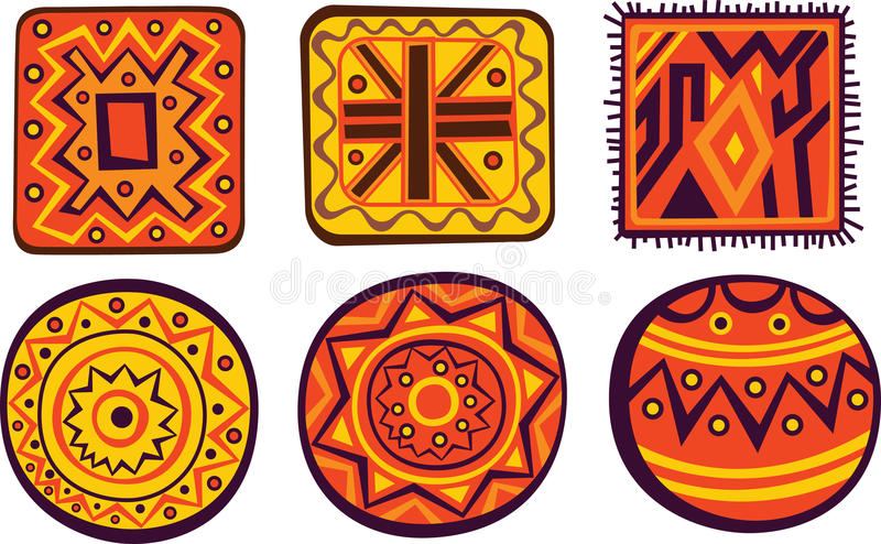 Afrikaanse ornamenten vector illustratie