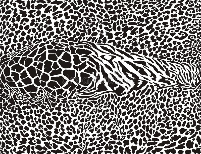Afrikaanse patroon afgedrukte achtergrond royalty-vrije illustratie