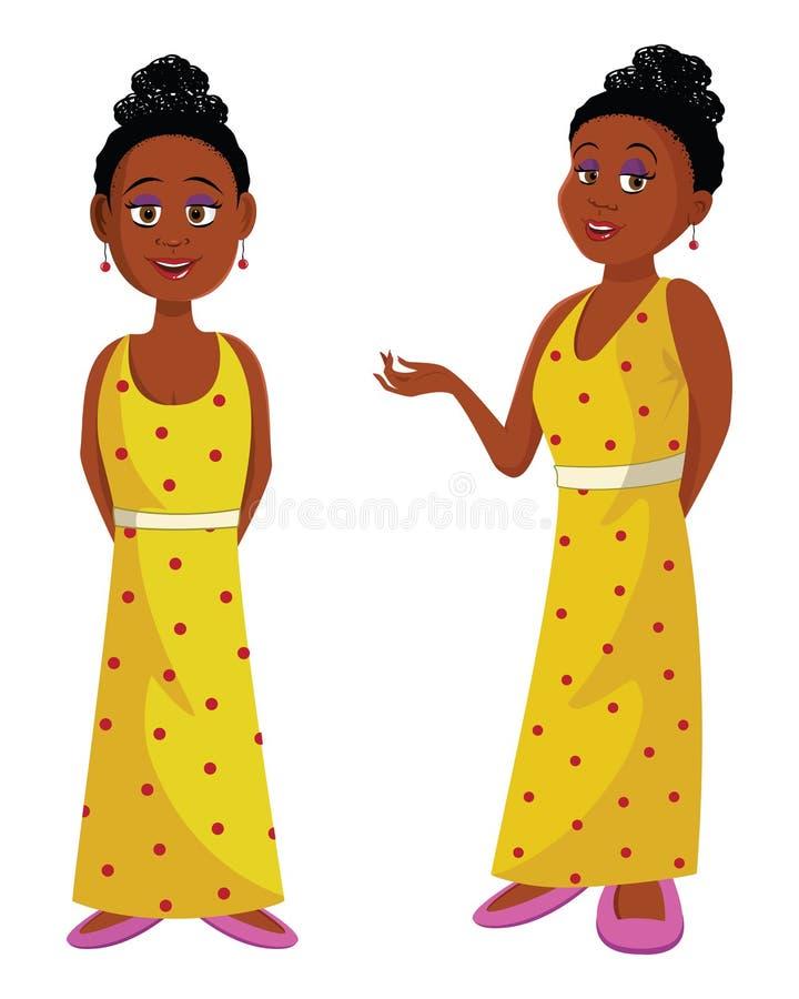 Afrikaanse schoonheidskoningin royalty-vrije illustratie