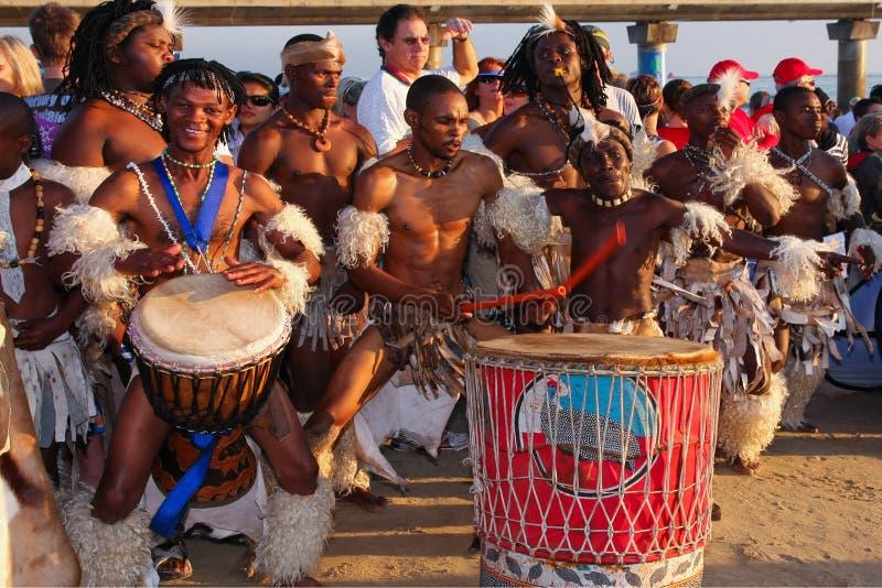 Afrikaanse slagwerkers stock foto