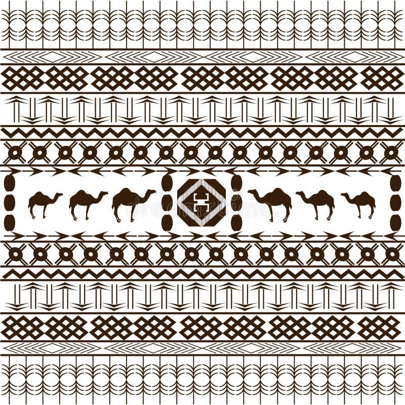 Afrikaanse textuur met etnische motieven vector illustratie