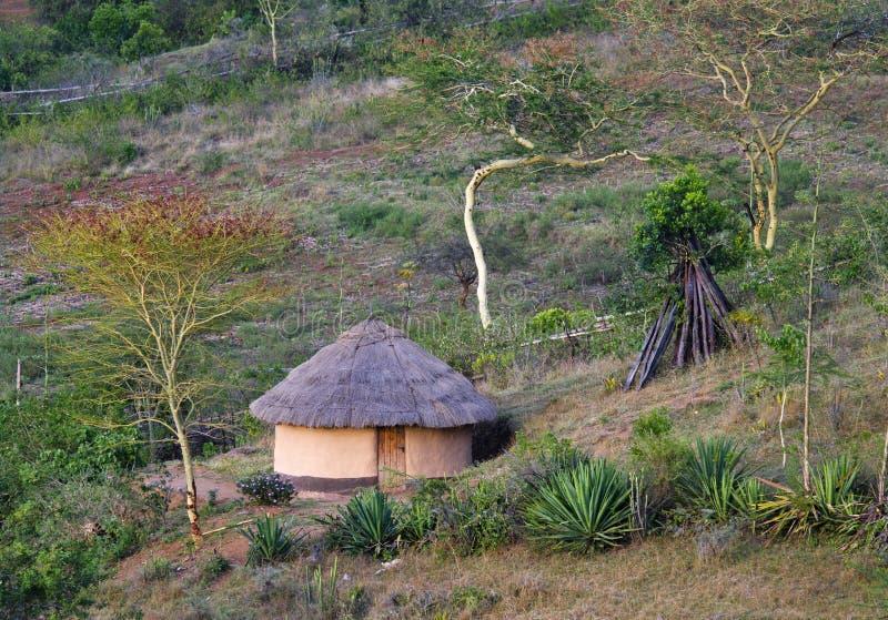 Afrikaanse traditionele hut, Kenia royalty-vrije stock foto's