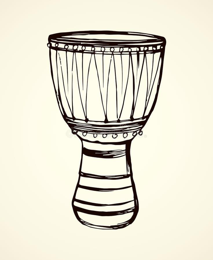 Afrikaanse Trommel Vector tekening royalty-vrije illustratie