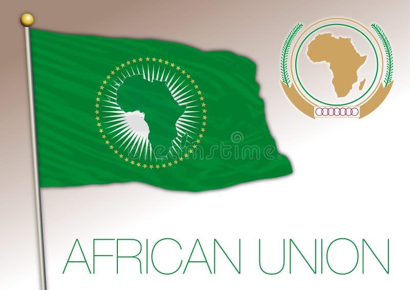 Afrikaanse Unie, internationale organisatie, vlag en wapen, Afrika vector illustratie