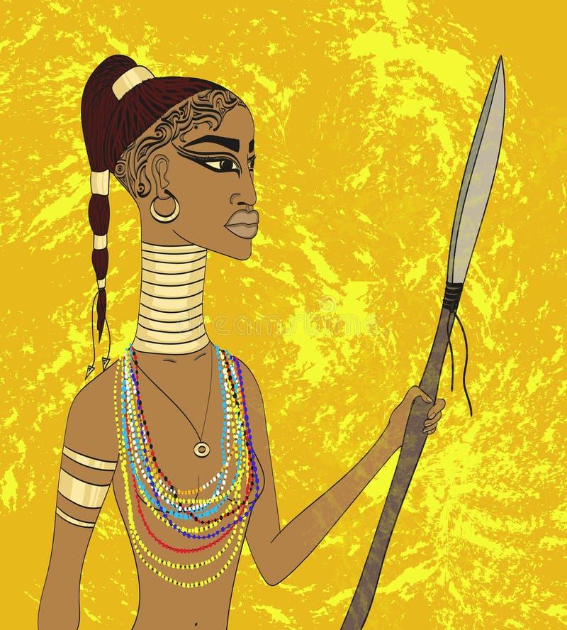 Afrikaanse vrouw royalty-vrije stock afbeelding