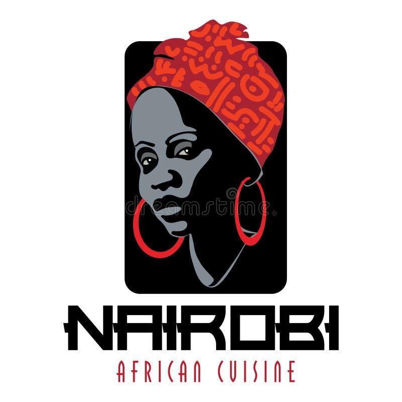 Afrikaanse vrouw vector illustratie