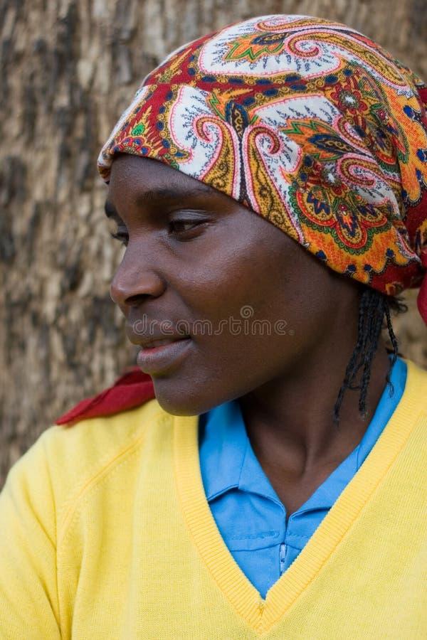 Afrikaanse vrouw stock afbeeldingen