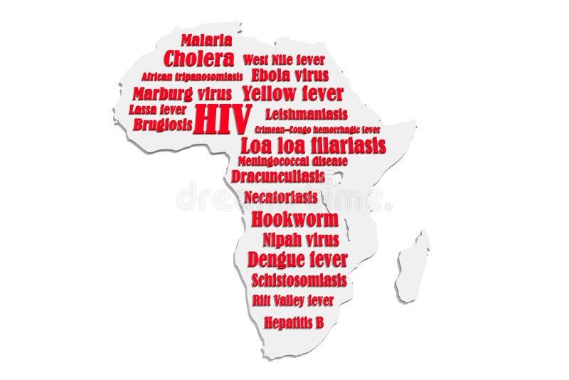Afrikaanse ziekten stock illustratie