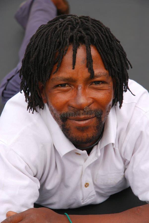 Afrikaanse zwarte mens royalty-vrije stock foto