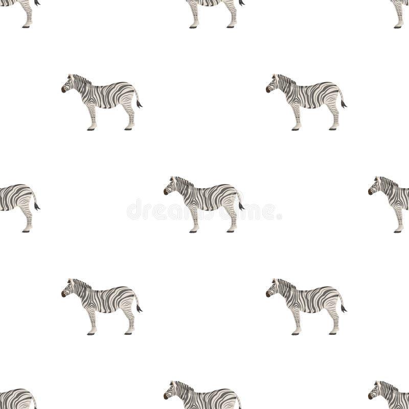 Afrikan ökensebra Löst klyva-traskat djur, enkel symbol för sebra i illustration för materiel för symbol för tecknad filmstilvekt stock illustrationer
