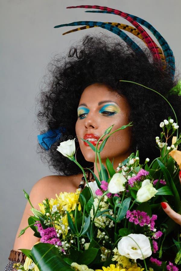 afrikanen gör upp stil royaltyfri fotografi