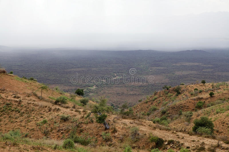 Afrikanen landskap royaltyfri bild