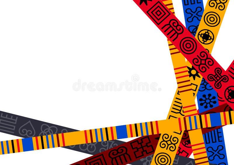 Afrikaner Adinkra-Hintergrund stock abbildung