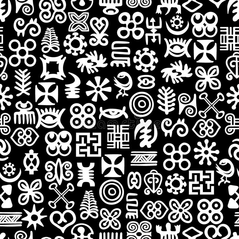 Afrikaner Adinkra-Muster lizenzfreie abbildung