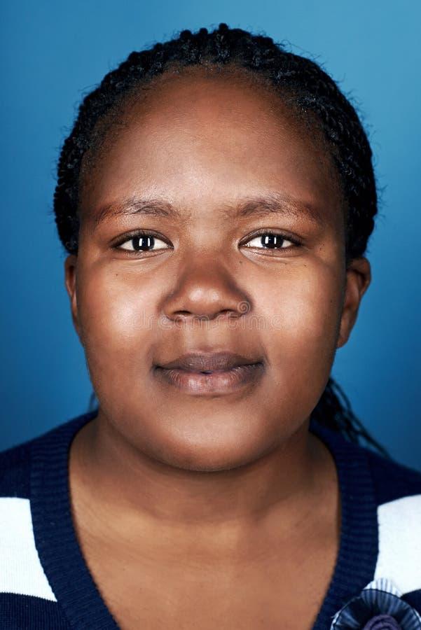 Afrikanerinporträt lizenzfreie stockfotos