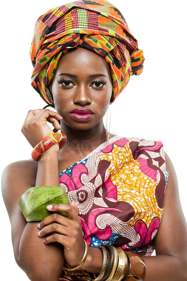 Afrikanisch-amerikanisches Mode-Modell. stockfotografie