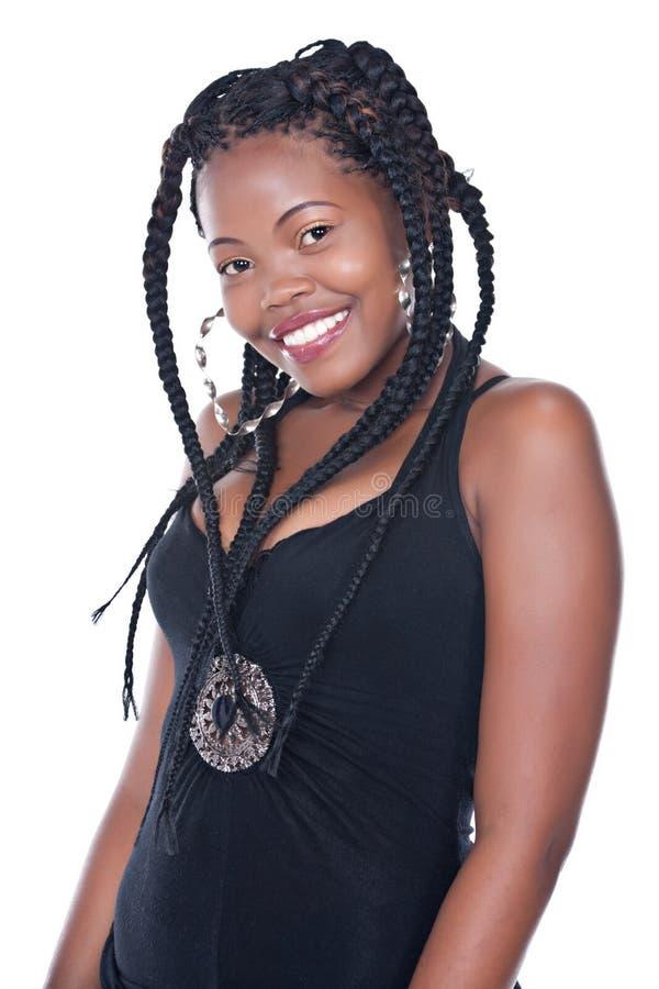 Afrikanische Frisur lizenzfreies stockbild