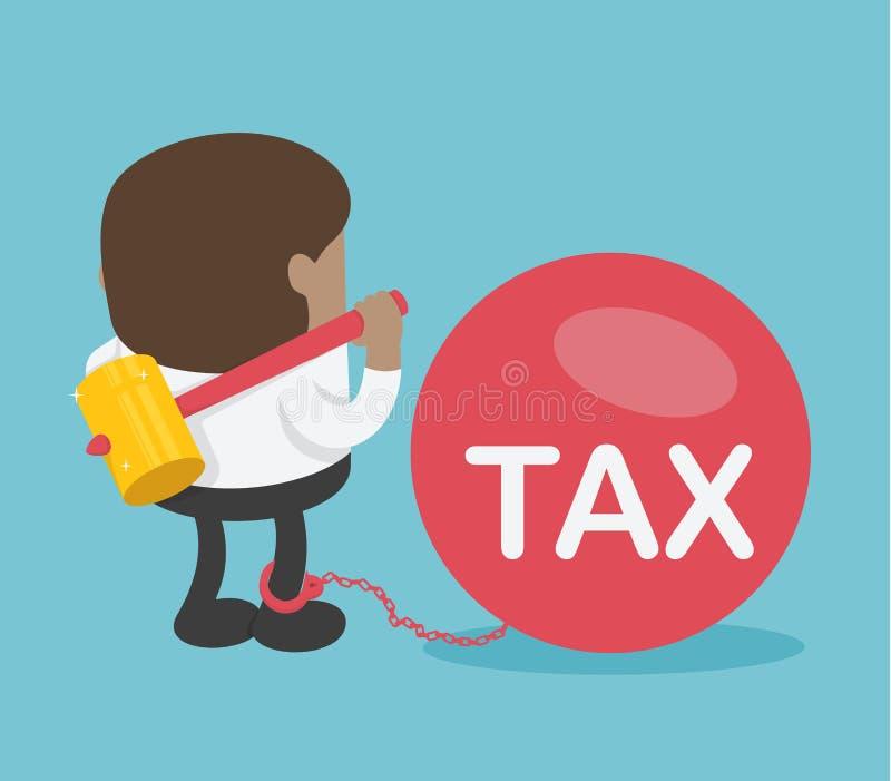 Afrikanische Geschäftsmänner sind im Begriff, eine große Steuer zu brechen lizenzfreie abbildung