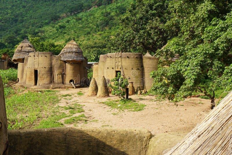 Afrikanische Häuser Traditionel von tamberma - Welterbe von Togo lizenzfreies stockfoto