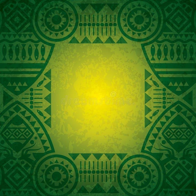 Afrikanische Hintergrunddesignschablone. vektor abbildung
