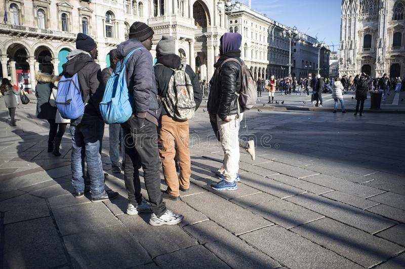 Afrikanische Immigranten in Italien lizenzfreie stockfotos