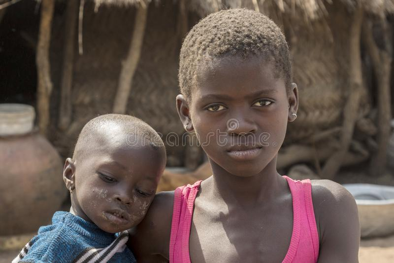 Afrikanische Kinder in Ghana lizenzfreies stockbild