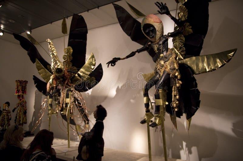 Afrikanische Kunst in British Museum London stockbild