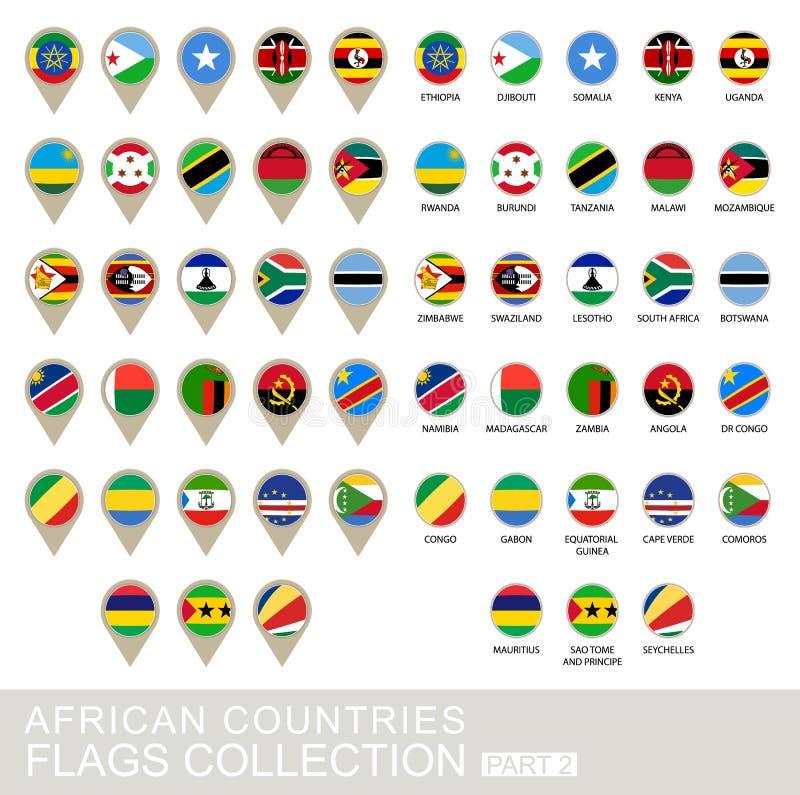 Afrikanische Land-Flaggen Sammlung, Teil 2 lizenzfreie abbildung