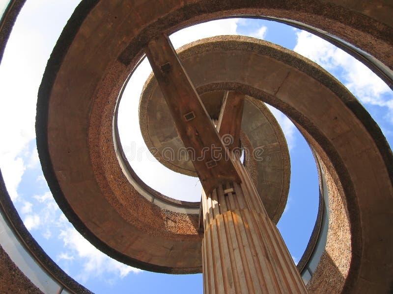 Afrikanische moderne Architektur stockbilder