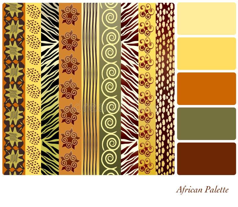 afrikanische muster farbe palette vektor abbildung