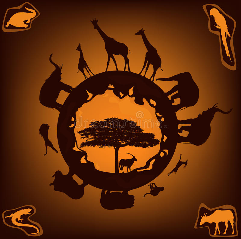 Afrikanische Natur lizenzfreie abbildung