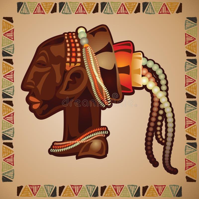 Afrikanische Schablone lizenzfreie abbildung