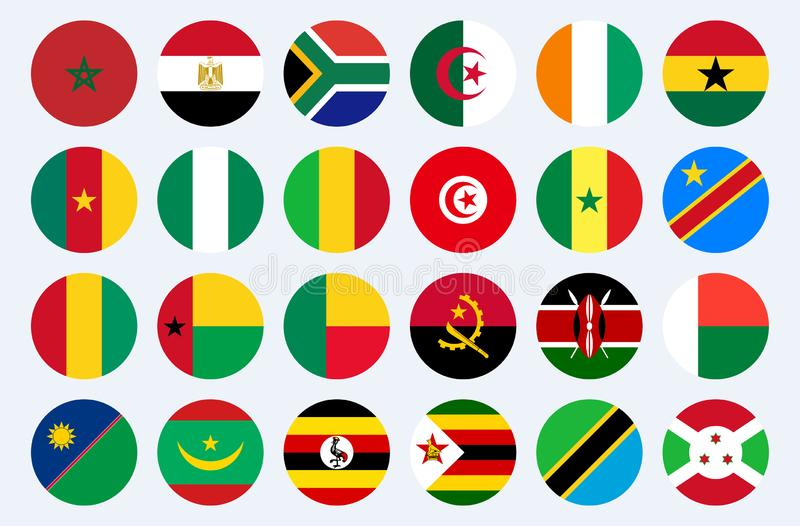 afrikanische Schale Ägypten der Afrika-Flaggenländer kann stock abbildung