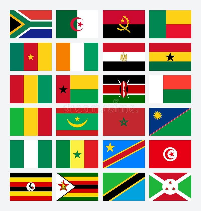 Afrikanische Schale Ägypten Flaggenafrika-Länder vektor abbildung
