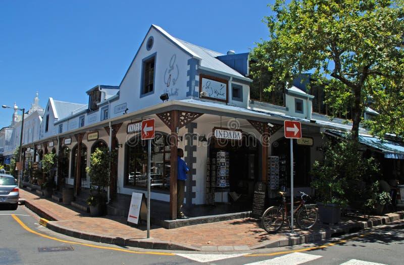 Afrikanische Souvenirladen, Stellenbosch, Südafrika lizenzfreie stockbilder
