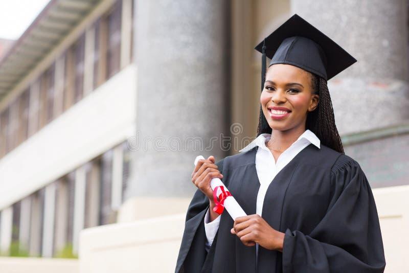 Afrikanische Studentinstaffelung stockbild