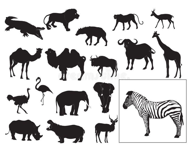 Afrikanische Tieransammlung stock abbildung