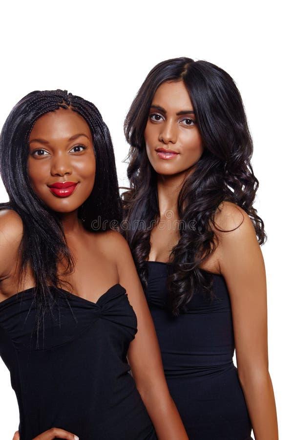 Afrikanische und indische Schönheit lizenzfreie stockbilder