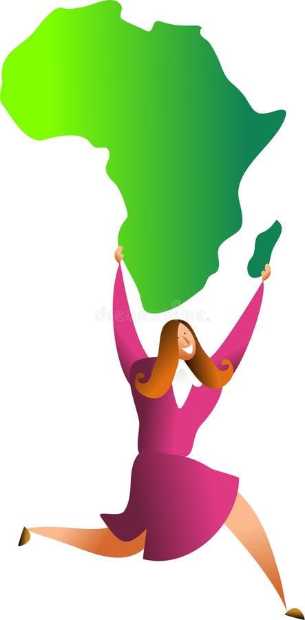 Afrikanischer Erfolg lizenzfreie abbildung