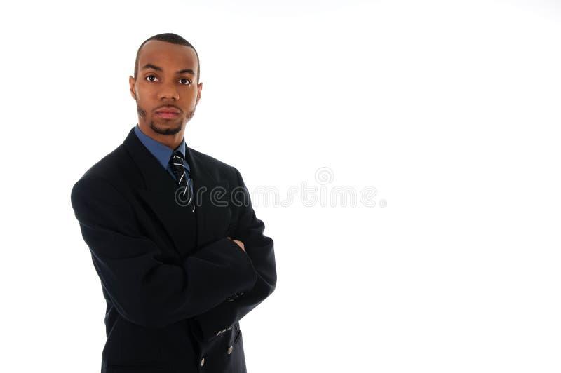 Afrikanischer Geschäftsmann lizenzfreies stockbild