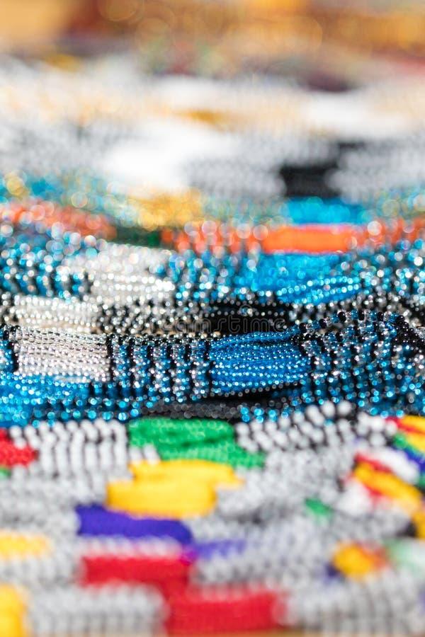 Afrikanischer Glasperlehintergrund lizenzfreie stockfotografie