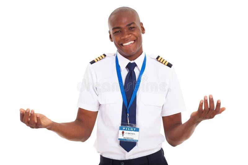 Afrikanischer Pilot stockfoto