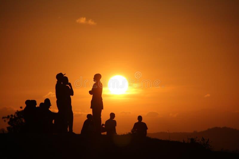 Afrikanischer Sonnenuntergang stockbilder