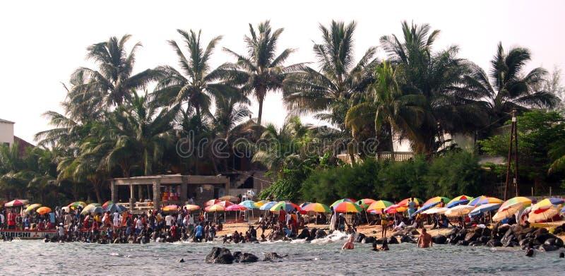 Afrikanischer Strand - Senegal lizenzfreie stockfotografie