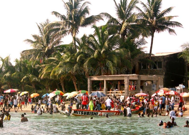 Afrikanischer Strand - Senegal stockfotografie